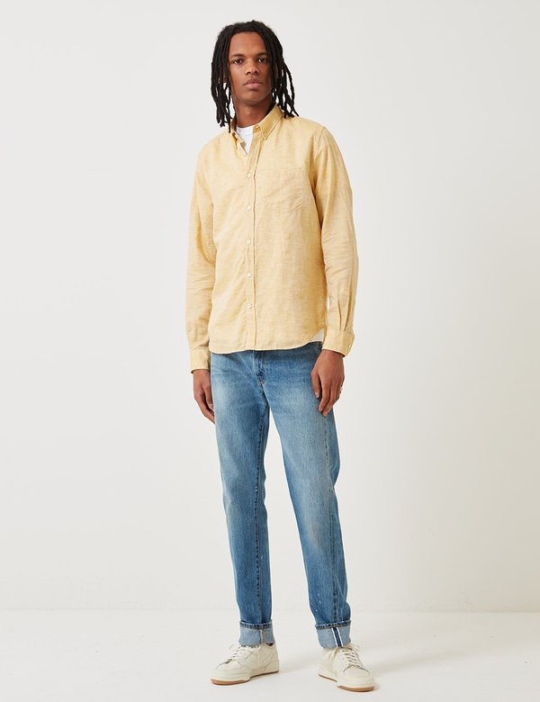 Norse Projects Osvald Button Down Shirt - Sunwashed Yellow