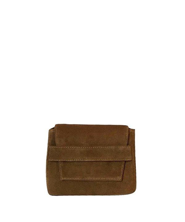 Ceri Hoover Mini Challon Handbag - Walnut