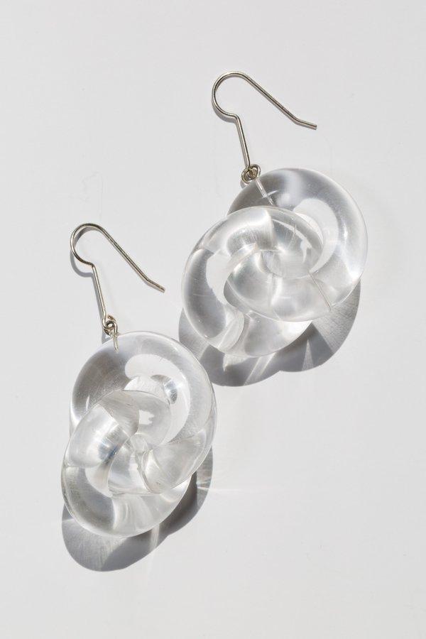 Hey Murphy Acrylic Link Earrings - Sterling Silver