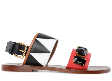 Marni Sandals - Indian Red/Lily