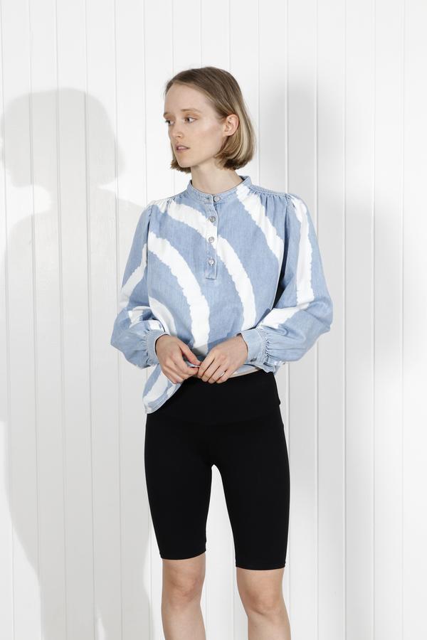Ganni Acadia Shirt - Bleach Tie Dye