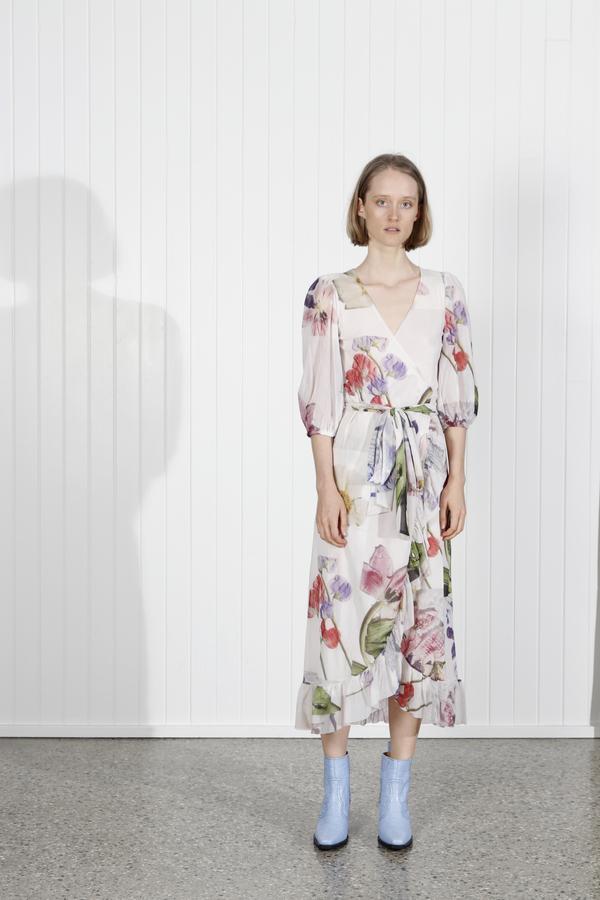 0b16f1671f Ganni Tilden Dress - Bright White