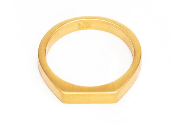 MING YU WANG THEOREM RING - Gold Plate Brass