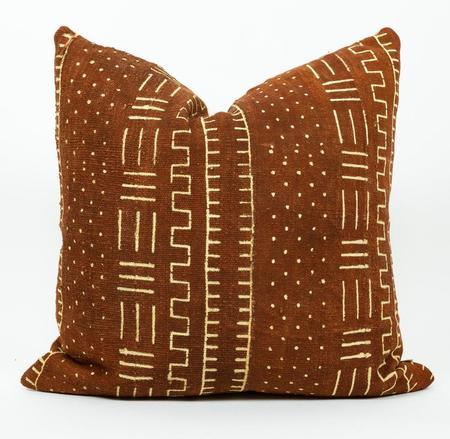 Bryar Wolf Guna Mud Cloth Pillow - Clay