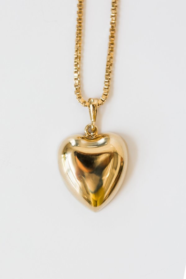 ARO Heart Necklace - 24KT Gold-Plated Sterling Silver