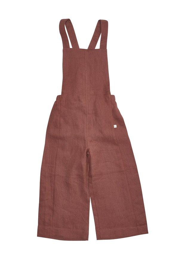KIDS Bacabuche Linen Overalls - Cinnamon