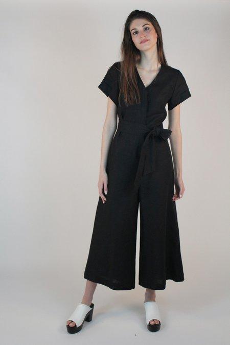 No.6 Miriam V-Neck Jumpsuit - Black