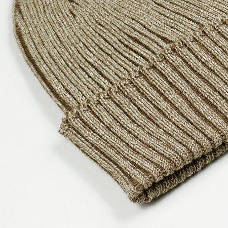 cableami Cotton Linen Beanie - Beige