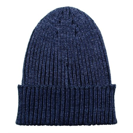 cableami Cotton Linen Beanie - Navy