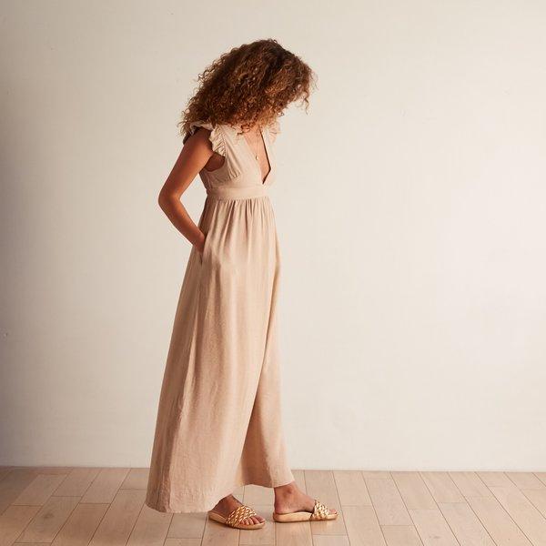 The Odells Flutter Sleeve Dress - Sabbia