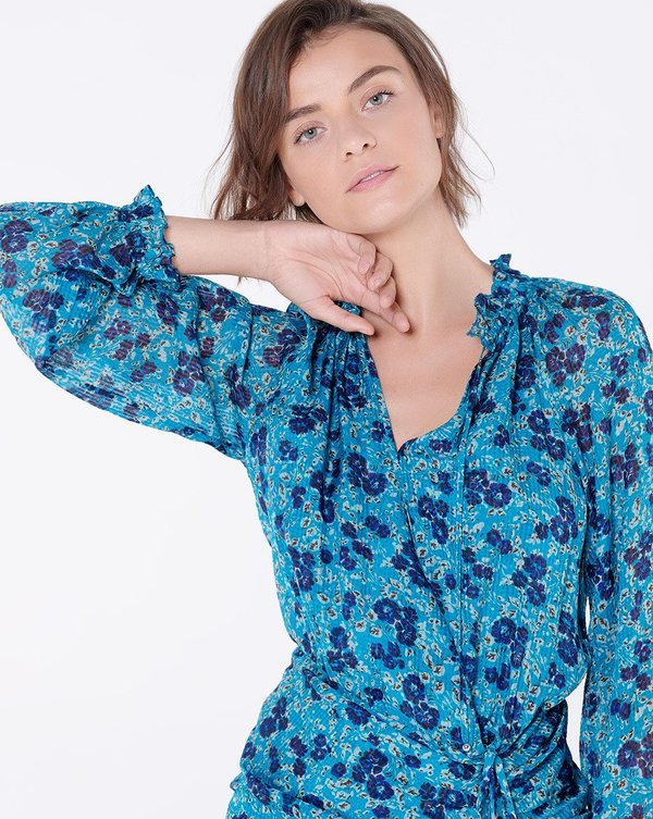 Veronica Beard Becky Dress - Turquoise Multi