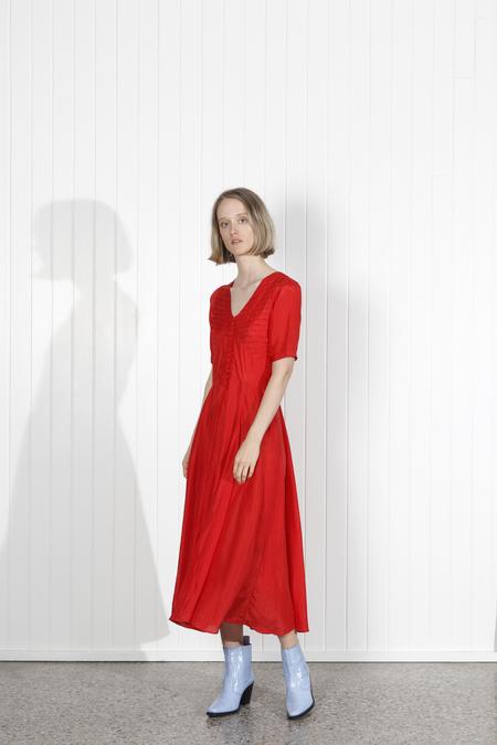 No.6 Paola Circle Dress - RED