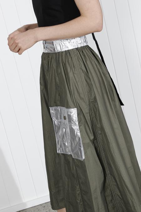 Ganni Meranti Tech Skirt - Kalamata