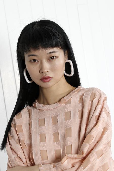 Rachel Comey Chilla Earrings - Clear/White