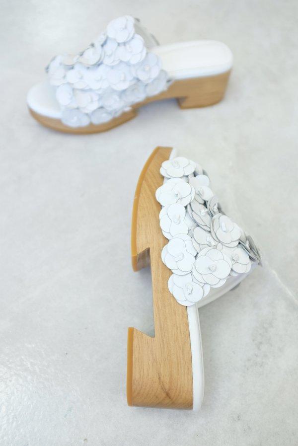 Beklina Floral Tétouan Clog - White