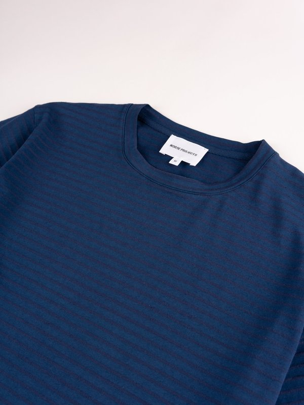 Norse Projects Niels T-Shirt - Indigo Stripe