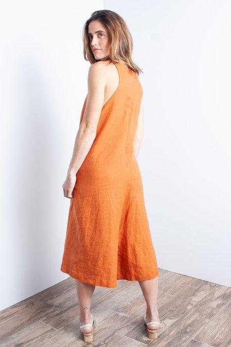 KAAREM Ginger V-Neck Wide Leg Cropped Onesie (Petite Exclusive) - Red Sand