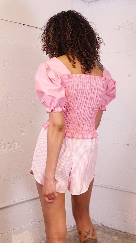 Lisa Says Gah Capri Short - Pink Gingham
