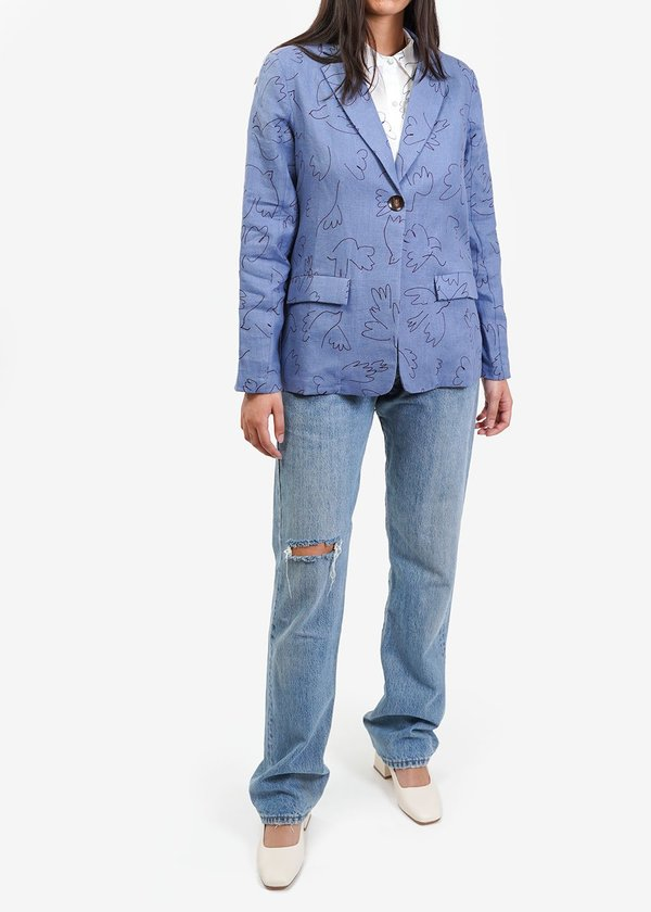 Paloma Wool Alora Paloma Suit Jacket - Blue