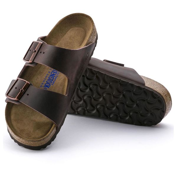 Unisex Birkenstock Arizona Oiled Leather Soft Footbed Sandal - Habana
