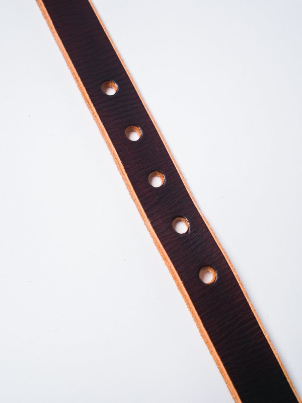 """CAUSE AND EFFECT 1"""" RAW EDGE BELT - BROWN"""
