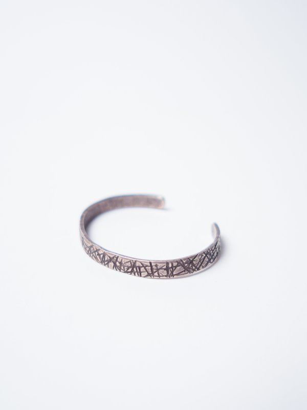CAUSE AND EFFECT SLASHED TEXTURE CUFF - STERLING SILVER