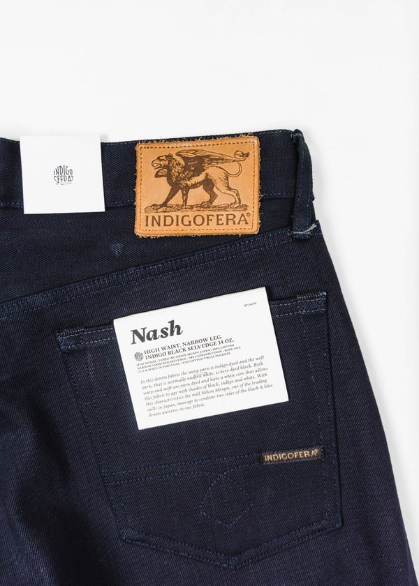 Indigofera Nash Selvedge Denim Jean - Black Indigo