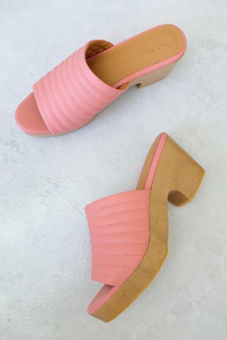 Beklina Ribbed Clog Open Toe - Blush