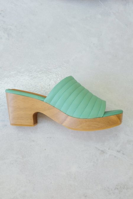 Beklina Ribbed Clog Open Toe - Mint