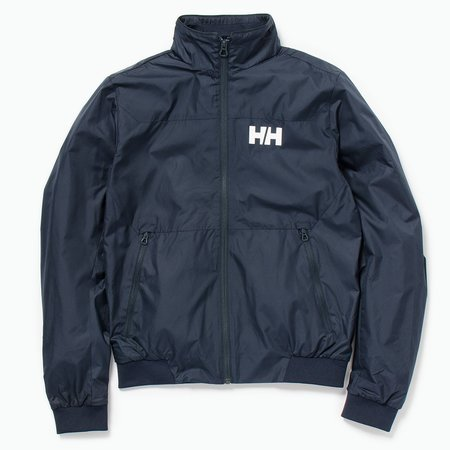 Unisex Helly Hansen Crew Windbreaker Jacket - Navy