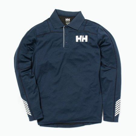 Unisex Helly Hansen HH Lifa Active Light Long Sleeve Polo - Navy