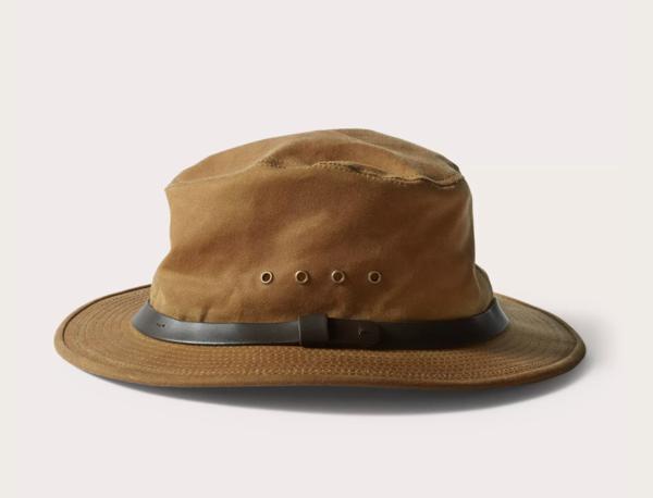 Filson Tin Cloth Packer Hat - Dark Tan