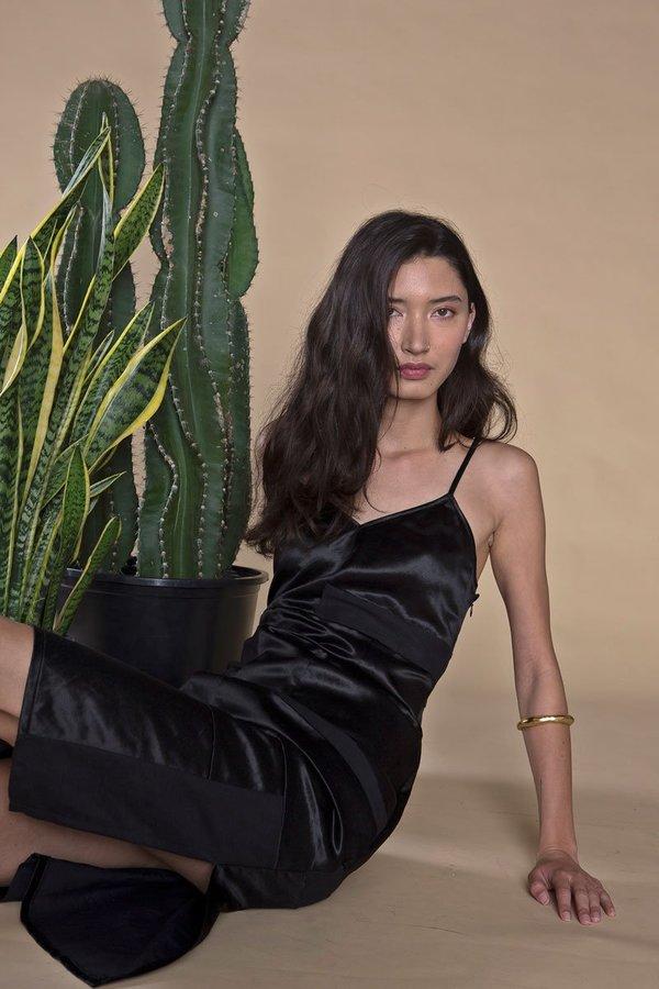 ARIELLE AMERICAN NIGHT SLIP DRESS - black