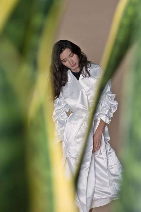 ARIELLE THE HITCHHIKER TRENCH - WHITE