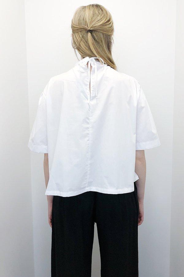 Toit Volant Mock Shirred S/S - White