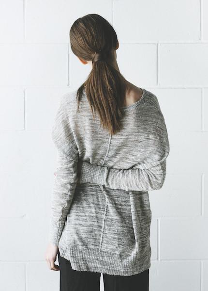 Line Knitwear - Ruby in Shadow
