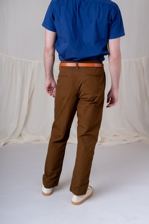 House Of St. Clair Single Pleat Trouser - Olive
