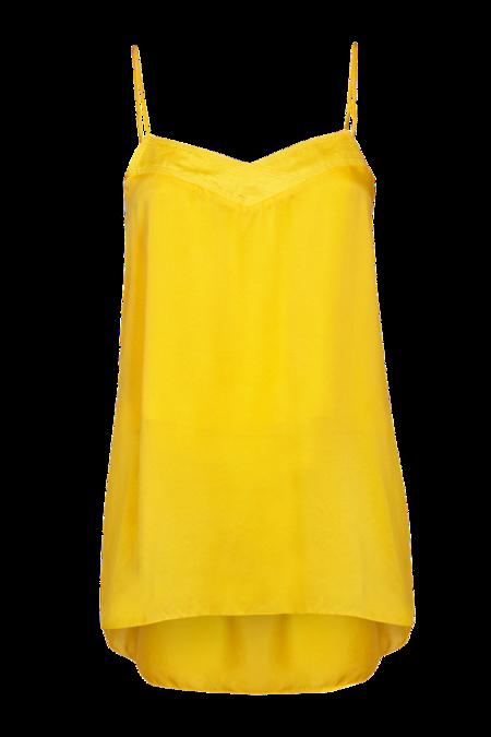 Arje Ana Oriental Silk Cami Top - Sunshine