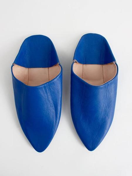Bohemia Design Moroccan Babouche Slides - Cobalt
