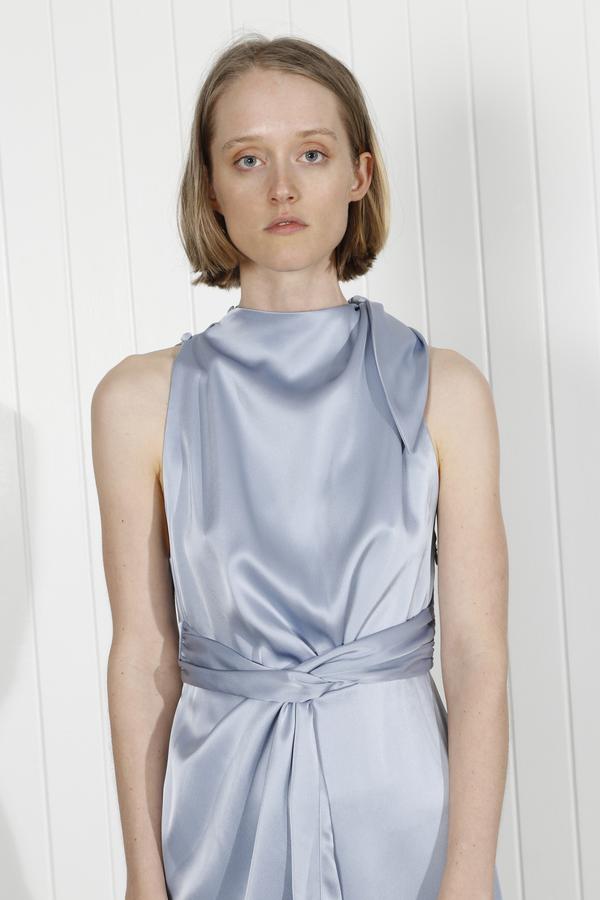 Nanushka Kalila Dress - Ice Blue