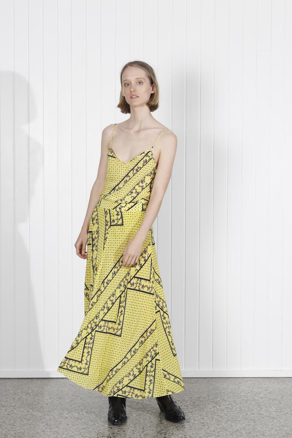 46be9d507 Ganni Hemlock Silk Skirt - Yellow | Garmentory