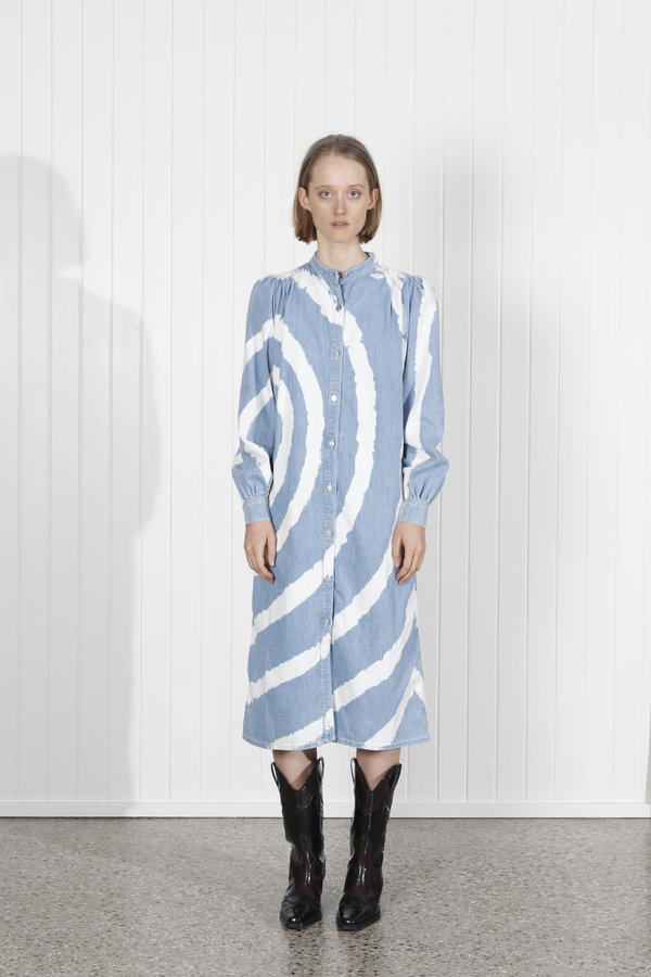 Ganni Acadia Dress - Bleach Tie Dye