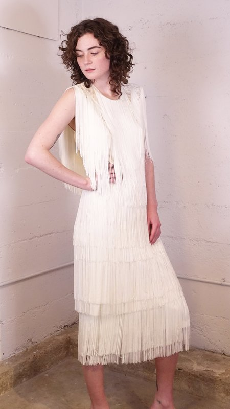 Rachel Comey Gyre Fringe Skirt - White
