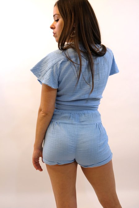 ANAAK Maithili Shorts - Sky Blue