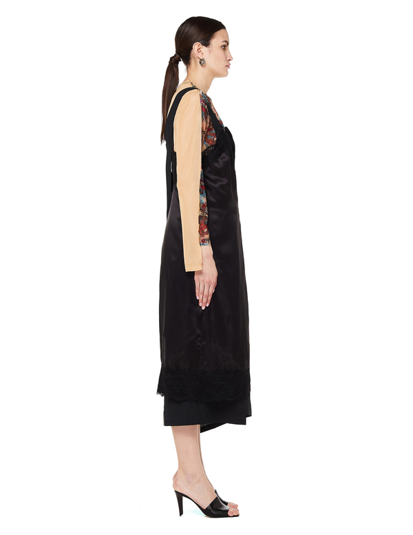 Junya Watanabe Lace And Twill Wrap Dress