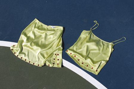Priscavera Gem Mini Skirt - Honeydew