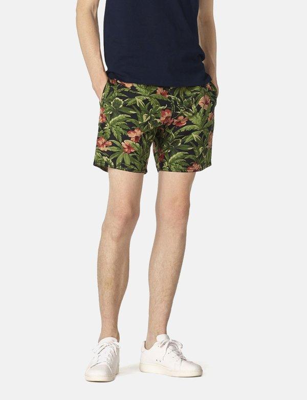 A.P.C. Eli Jungle Print Shorts - Khaki Green
