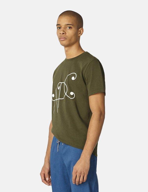 A.P.C. Ted T-Shirt - Khaki Green