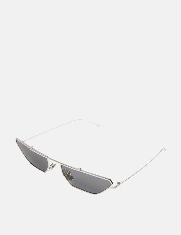 Komono Alec Sunglasses - Silver Smoke