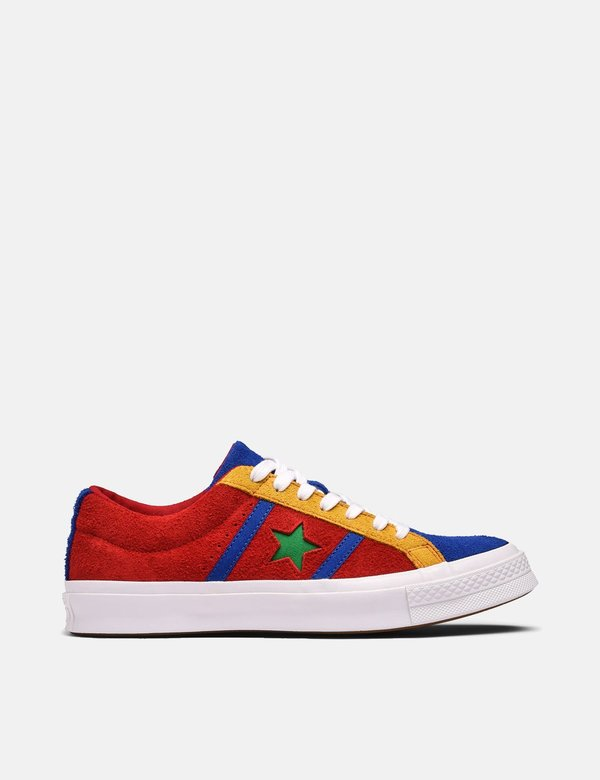 Converse One Star Academy Low Top Trainers Enamel RedBlue on Garmentory